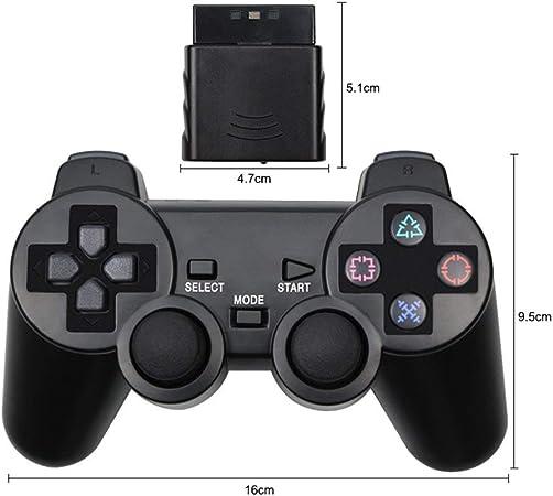 NO LOGO Mando inalámbrico Joy Pad for PS2 Consola de Juegos Bluetooth Mando Jogos Manette Controle Joystick Gamepad for Sony Playstation 2 (Color : Orange): Amazon.es: Hogar