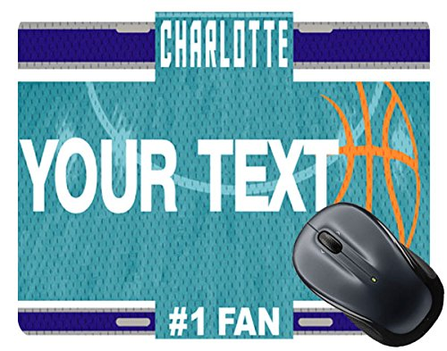 - BRGiftShop Customize Your Own Basketball Team Charlotte License Plate Square Mouse Pad