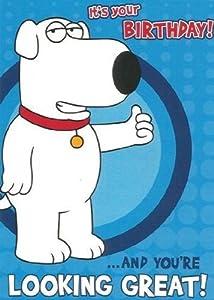 Amazon.com: Official Family Guy Birthday Card - Brian ...
