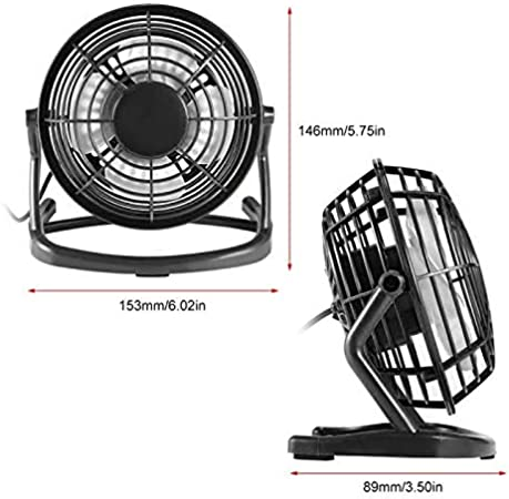 jujingyi officeproductsUSB Power Plug 4 Blades Mini Fan DC 5V Small Desk Cooling Fan Super Mute Cooler for PC//Laptop//Notebook 180 Degree Rotation