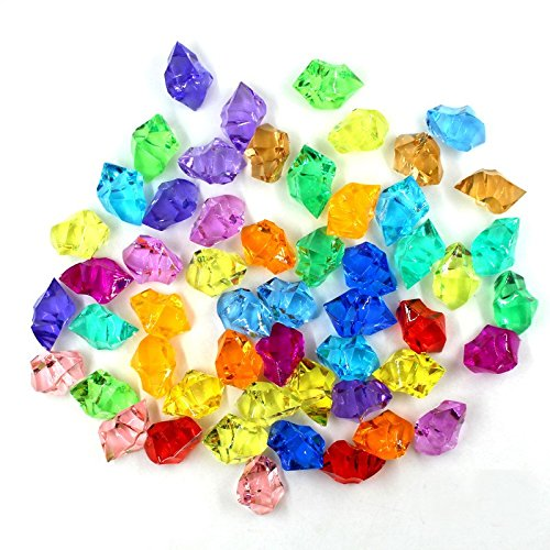 Pirate Jewels 100Pcs/lot Acrylic Crystal Gems Vase Filler Confetti Treasure Chest Event Party Party Favor Decorations