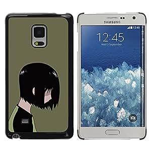 KLONGSHOP // Cubierta de piel con cierre a presión Shell trasero duro de goma Protección Caso - Emo Kid - Samsung Galaxy Mega 5.8 //