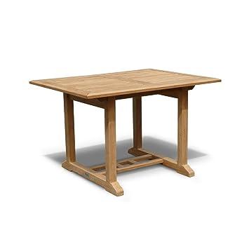 Winchester Teak Hardwood Rectangular Garden Table (Length 120cm  Width  90cm) -