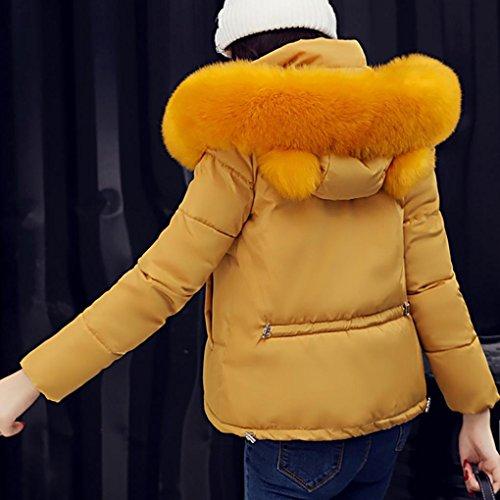 mujer de Escudo corto de Lammy chaqueta Amarillo más invierno informal Internet Outwear gruesa Abrigo Down Slim la Abrigo abrigo RqIqz