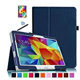 Scheam Samsung Galaxy Tab S 10.5 (SM-T800) Wallet Case, Stylish Slim PU Leather Back Shell Stand and Card Holders Wallet Phone Cover Case Compatible with Protective Case Compatible with Samsung