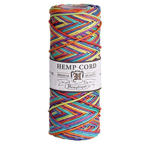 Hemptique 100% Hemp Cord Spool - 62.5 Meter Hemp String - Made with Love - No. 20 ~ 1mm Cord Thread for Jewelry Making, Macrame,