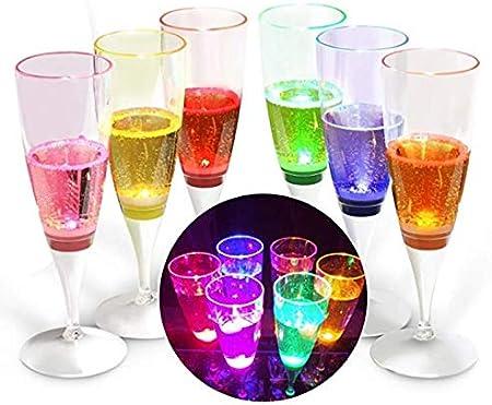 NLI Caja de Copas de Cava LED 6 Colores: Amazon.es: Hogar