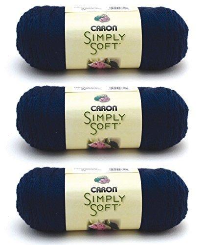 Bulk Buy: Caron Simply Soft Yarn Solids (3-Pack) Dark Country Blue H97003-9711
