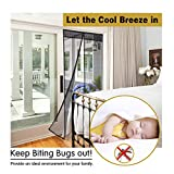 Magnetic Mosquito Screen Door Net ,Yiodu Magnet Seal Mesh Curtain 3283inch Free Velcro Pins Plastic Tacks, Friendly to Child Pets ,Keep Bugs Out Lets Fresh Air in, Fits door up to 3082inch Max Door