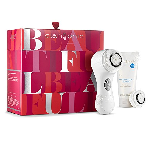 Clarisonic Mia 2, Sonic Facial Cleansing Brush System - 2 Speeds for Gentle and Everyday Cleansing Holiday Gift Set, White