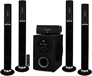 "Acoustic Audio AAT3002 Tower 5.1 Home Theater Bluetooth Speaker System with 8"" Powered Subwoofer"