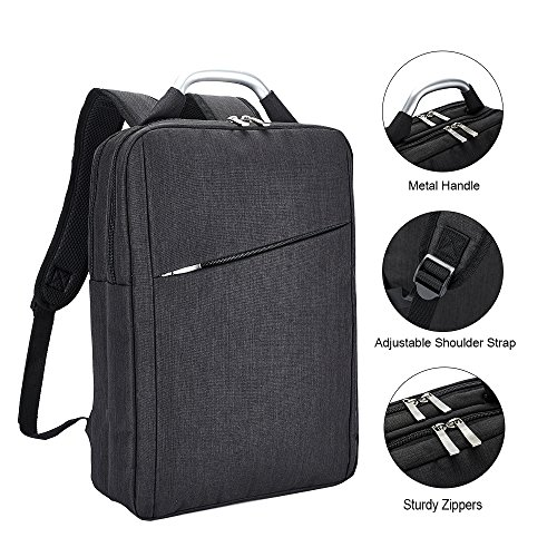 Business Laptop Backpack Slim Durable College School Backpack for Men and Women Lightweight Travel Computer Bag Fits Under 15.6 inch Laptop and Notebook Gray