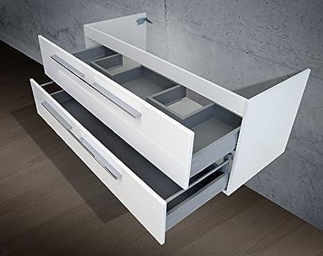 Unterschrank Zu Keramag ICon Doppelwaschtisch (für 2 Abläufe) 120 Cm  Waschbeckenunterschrank: Amazon.de: Küche U0026 Haushalt
