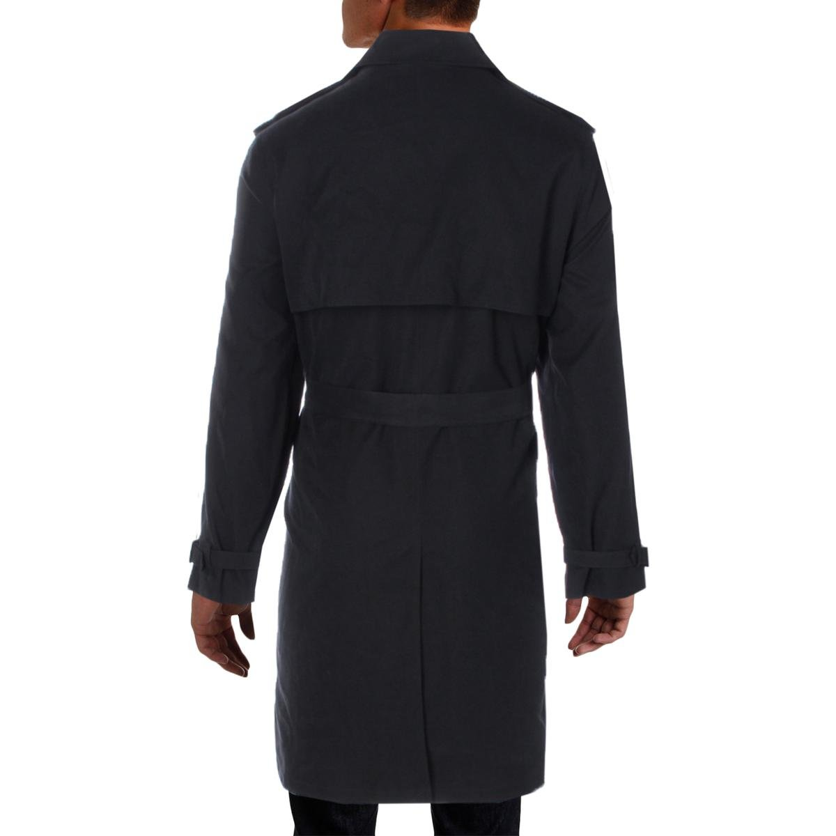 London Fog Mens Plymouth Twill Belted Double-Breasted Iconic Trench Coat