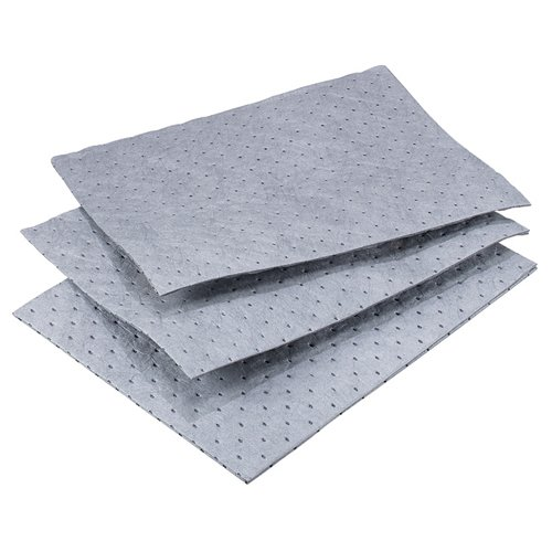 Oil-Dri L90902 15'' W x 19'' L Universal Heavy Weight Bonded Perforated Pads (100 Mats/Box) by Oil-Dri