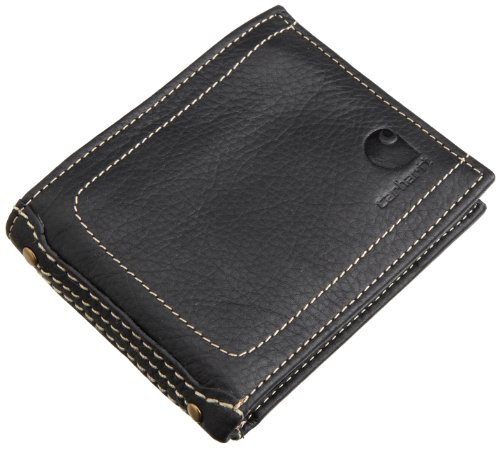 Carhartt Men's Passcase Wallet,Black,One Size