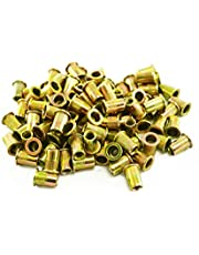 Astro Pneumatic Tool RN6M M6 6mm Steel Rivet Nuts, 100 Piece