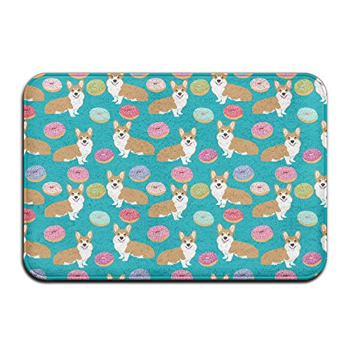 Poodle Door Mat (Corgi Donuts Outdoor Bathroom Mats 2416 Inch Door Mat)