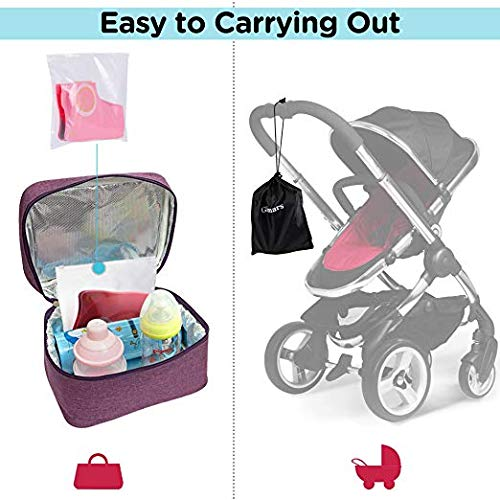 Toddlers and Kids Upgrade Folding Large Non Slip Silicone Pads Travel Portable Reusable Toilet Potty Training Seat Covers Liners with Carry Bag for Babies