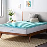 King Size Egg Crate Topper Linenspa 3 Inch Convoluted Gel Swirl Memory Foam Mattress Topper - Promotes Airflow - Relieves Pressure Points - King