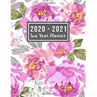 2020-2021 Two Year Planner: 2020-2021 see it bigger planner - Flower Watercolor Cover - 2 Year Calendar 2020-2021 Monthly - 24 Months Agenda Planner ... 2020 to Dec 2021 ) Perfect Gift for Mom USA