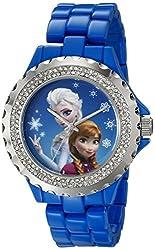 Disney Women's W001818 Anna & Elsa Analog Display Analog Quartz Blue Watch