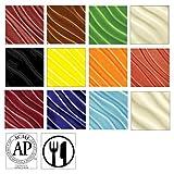 AMACO F-Series Glaze Classroom Pack, Assorted Colors, Set of 12 Pints