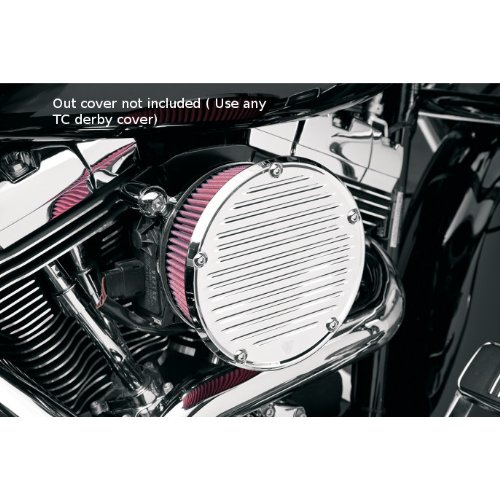 - Arlen Ness Derby Sucker Air Filter Kit Without Cover Chrome 91+ Harley XL Standard Filter 18-384