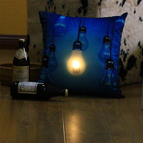 Star LED Luminous Light Pillow Cushion Gift Blue - 3