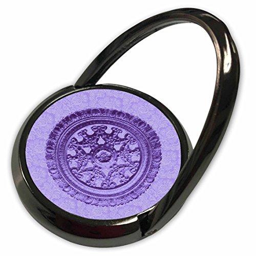 3dRose Jaclinart Bows Scrolls Shells Floral Damask - Iris purple ornate vintage architectural element on pastel purple damask background - Phone Ring (phr_31830_1)