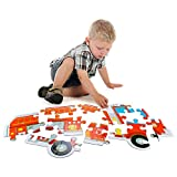 """24-Piece Fire Engine Jumbo Jigsaw Floor Puzzle, 38"""" X 16"""" Giant Firetruck Puzzle Toy by Imagination Generation"""