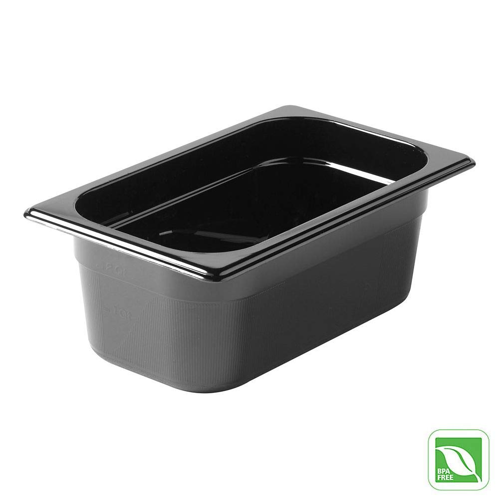 Rubbermaid Commercial Products FG211P00BLA Hot Food Pan, 1/4 Size, 2-1/2 quart, Black