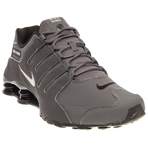 Nike Mens Shox Nz Running Shoe Dark Grey/Metallic Irn Or/Anthracite/Bl 13 D(M) US