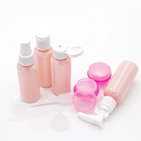 457677f766d2 Gospire Pink Travel Bottles Spray Bottles Pump Bottles for Makeup Cosmetic  Toiletries Liquid Containers...