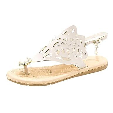 1f72bba120ec2 Amazon.com: Claystyle Womens Summer Beach Slip On Sandal Pearl ...