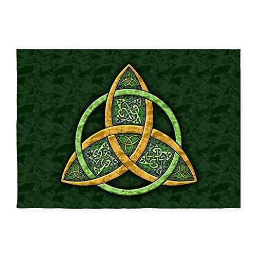 CafePress Celtic Trinity Knot Decorative Area Rug, 5'x7' Throw -