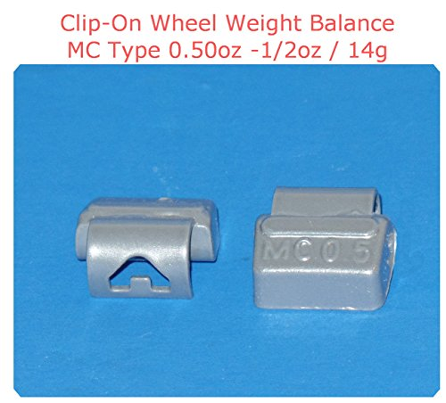 (25 Pieces) ZN CLIP-ON WHEEL WEIGHT BALANCE 0.50 1/2oz MC Type Total 12.50oz (Use for All Types of Alloy wheels On Passenger Cars , Trucks , Vans & Motorcycles) by VPro (Image #1)