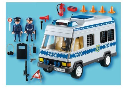 playmobil 4023 police van with police officers multi coloured amazoncouk toys games