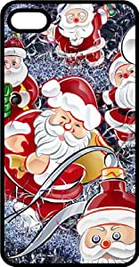 Santa Figures Tinted Rubber Case for Apple iPhone 4 or iPhone 4s