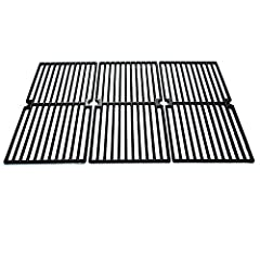 """Direct store Parts DC110 Polished Porcelain Coated Cast Iron Cooking grid Replacement Brinkmann, Charmglow Gas Grill; Dimensions: 8 15/16"""" x 17 3/4"""" Each or 26 13/16"""" x 17 3/4"""" Total; Material:Polished Porcelain Coated Cast Iron;"""
