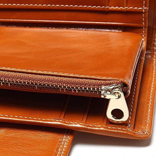 Porta Donna Per Portafogli Portafogli Portamonete Portamonete In Di Carte Brown Wendyray Credito Pelle Donna Pelle q4nwzxE