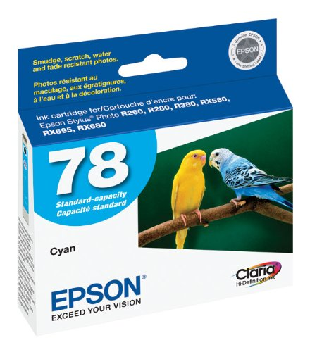 Epson R260/r360/rx580 Standard Cap Cyan Cyan Ink Cartridge For Artisan 50 Printer (Rx580 Standard)