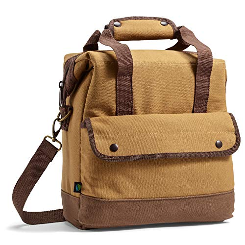 Fit & Fresh Douglas Insulated Lunch Bag for Adults/Office/Work/Fishing/Golfing/Boating, Brown (Lunch Bag Big Phil)