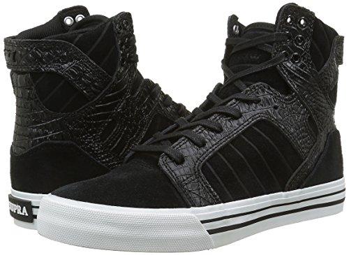 Skytop croc Supra black White Noir Adulte Mixte Hautes Sneakers dxqrP0qwZ