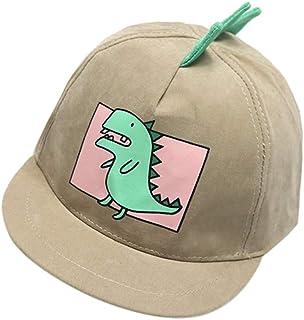 Yuelie Baby Boys Hats Toddler Kids Cartoon Dinosaur Baseball Caps Summer Beach Sun Protection Hats Beret (Yellow)