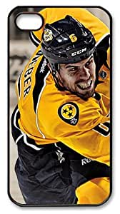 LZHCASE Personalized Protective Case for iPhone 4/4S - NHL Nashville Predators #6 Shea Weber