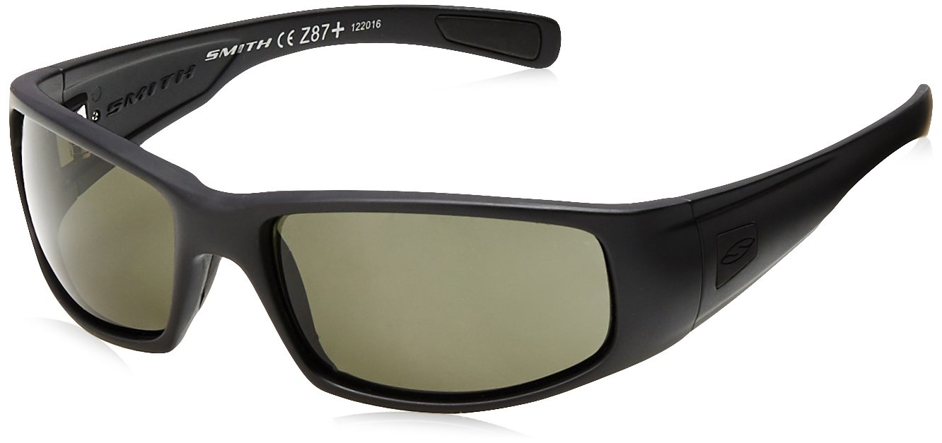 8c62127dd9 Amazon.com   Smith Optics Hideout Tactical Sunglass with Black Frame ( Polarized Gray Lens)   Sports   Outdoors