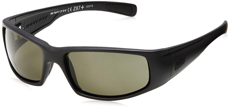 Smith Optics Hideout Tactical Sunglass with Black Frame (Polarized Gray Lens)