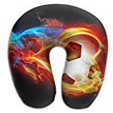 Gkf U Shaped Pillow Neck Creative Soccer Travel Multifunctional Pillow Car Airplane