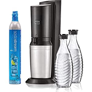 SodaStream Aqua Fizz Sparkling Water Machine (Black) with Co2 & Glass Carafes 4